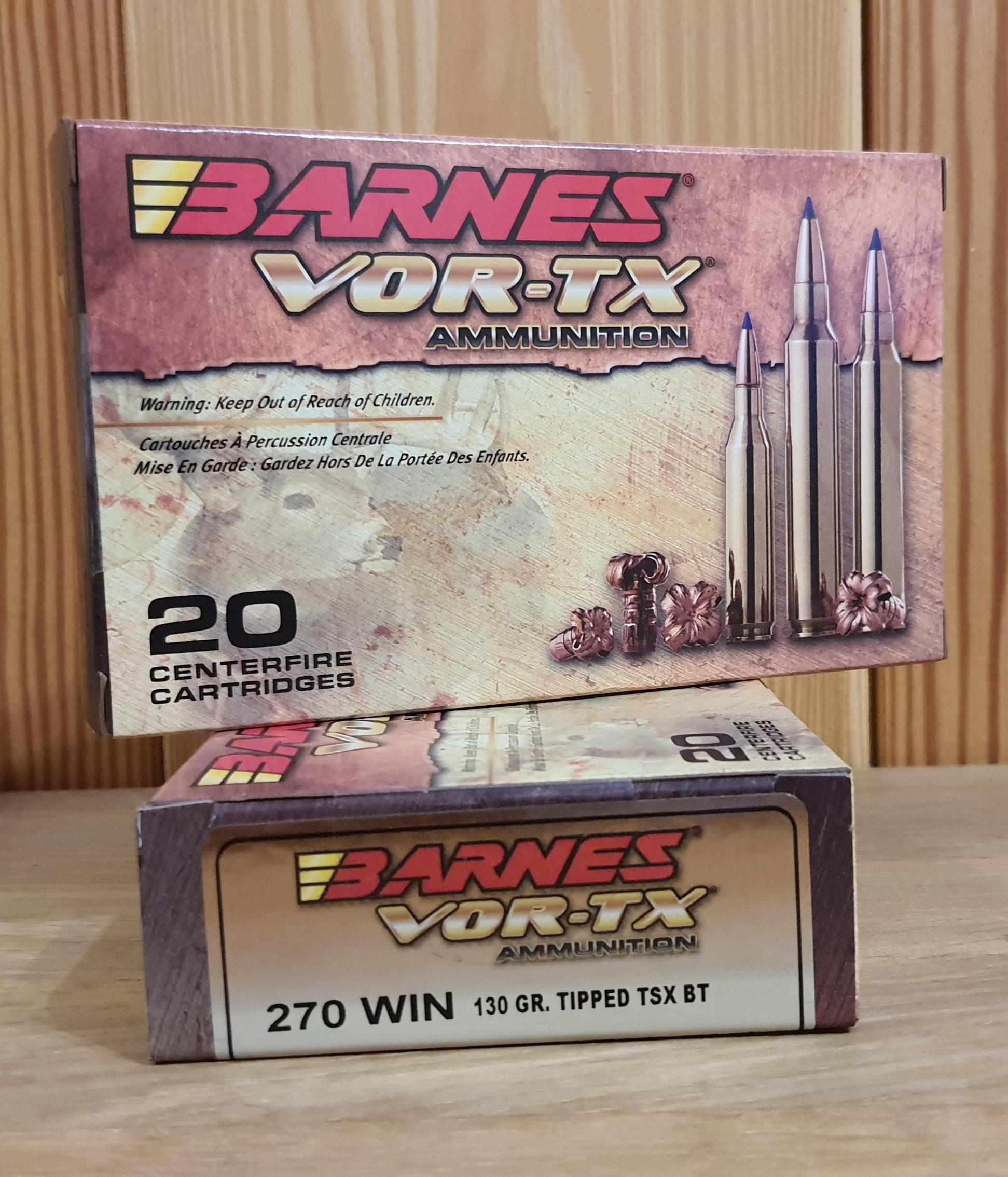 MUNIZIONI BARNES VOR-TX CAL. 270 WIN 130 GRANI TTSX
